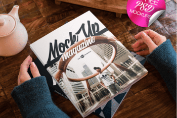 Create Awesome Covers with These Two Magazine PSD Mockups
