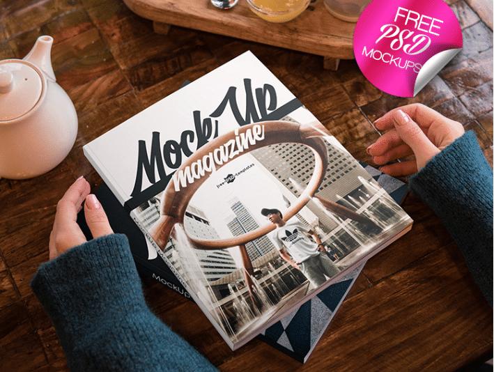 Magazine PSD Mockups