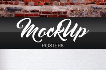 Free Poster PSD Mockup to Design Beautiful Posters