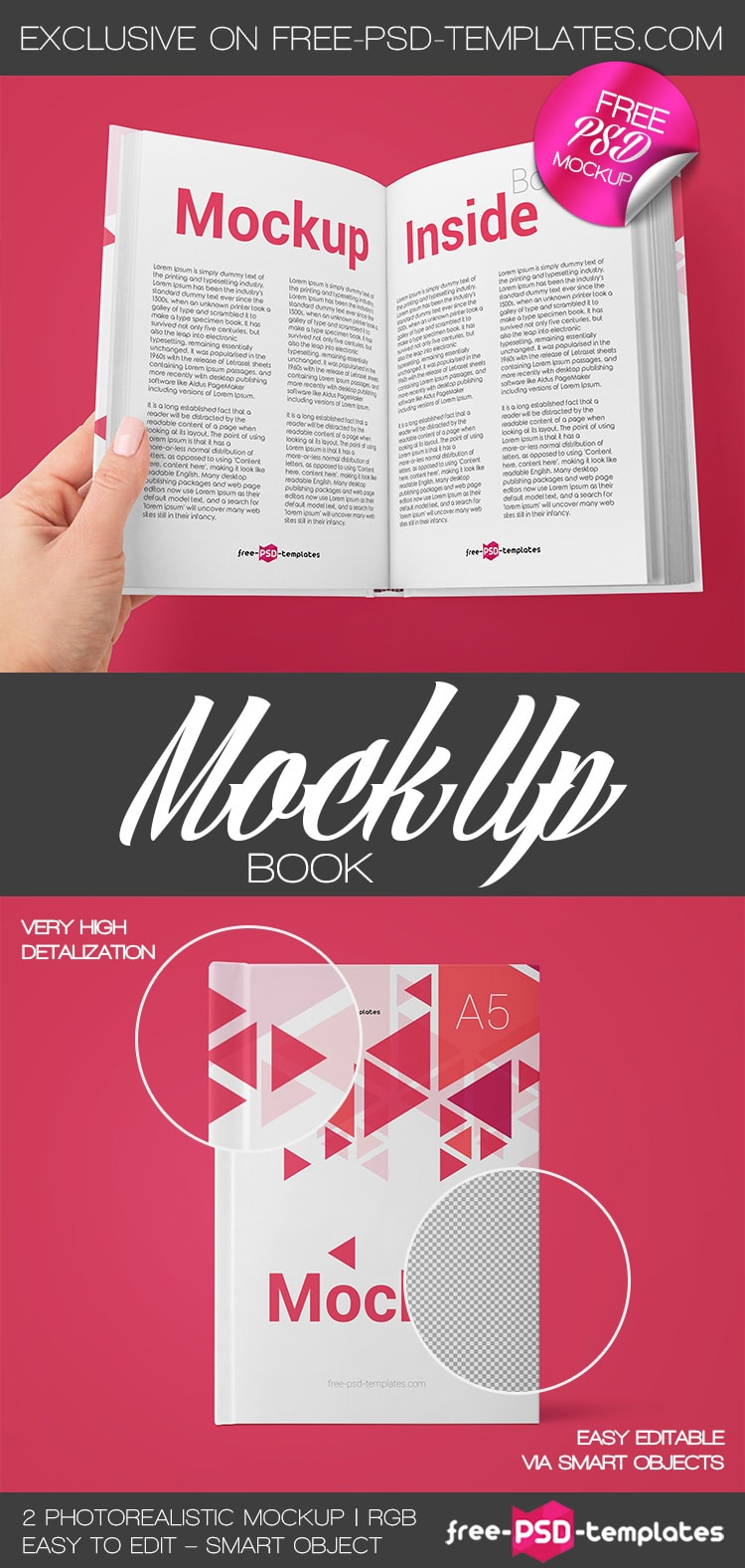 2 free PSD mockups for book