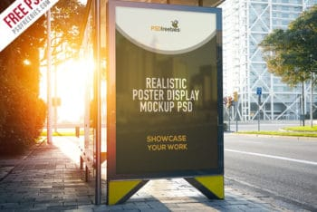 Poster Display PSD Mockup for Effective Outdoor Advertising