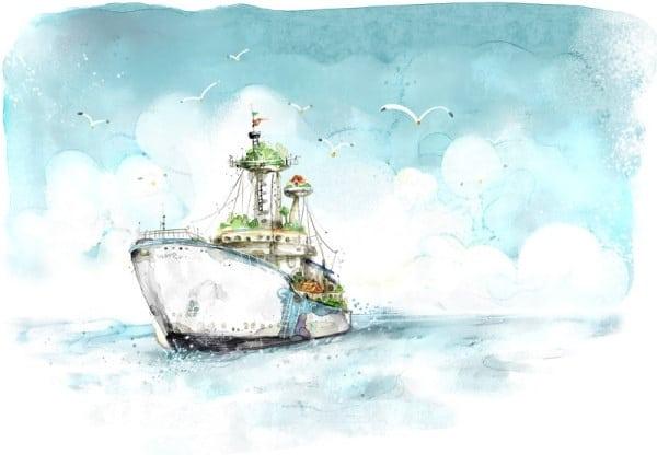 Handpainted Sea Voyage