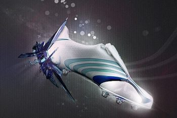 Free Cool Adidas F50 Track Shoes Mockup in PSD