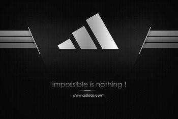Free Adidas Motivational Logo Mockup in PSD