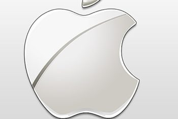 Free Shiny Apple Logo Mockup in PSD