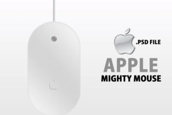 Free Apple Mighty Mouse Design Mockup in PSD