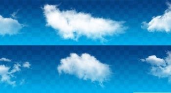 Free Fluffy Clouds Design Mockup in PSD