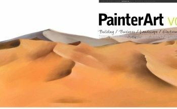 Free Desert Painting Scene Mockup in PSD
