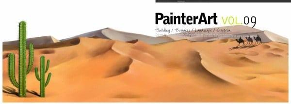Desert Painting Scene