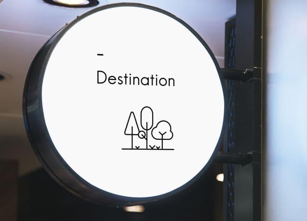 Minimalist Circular Sign