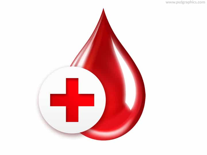 Blood Drop Plus Red Cross Icon