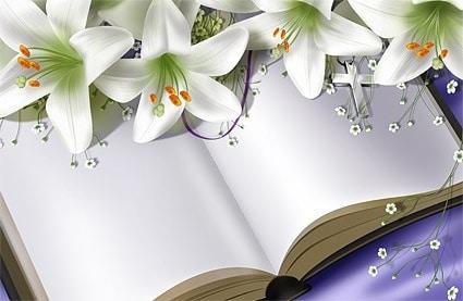 Blank Book Plus Fresh Lilies