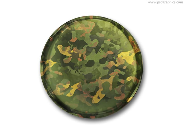 Military Button Pin
