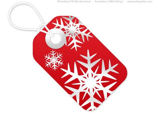 Red Plus White Christmas Tag