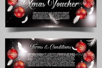 Special Christmas Gift Voucher PSD Mockup for Free