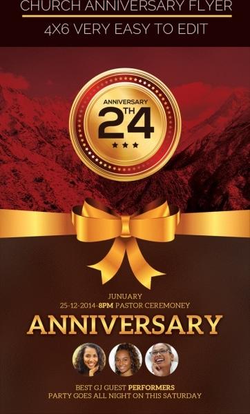Church Anniversary Poster