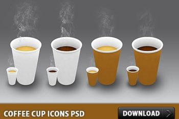 Free Hot Coffee Cup Designs Mockup in PSD