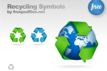Free Modern Recycling Symbol Mockup in PSD