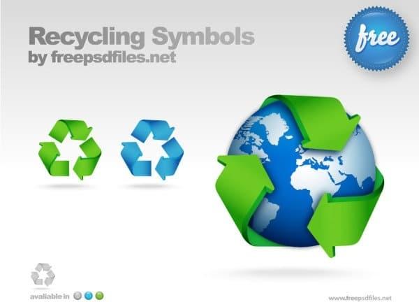 Modern Recycling Symbol