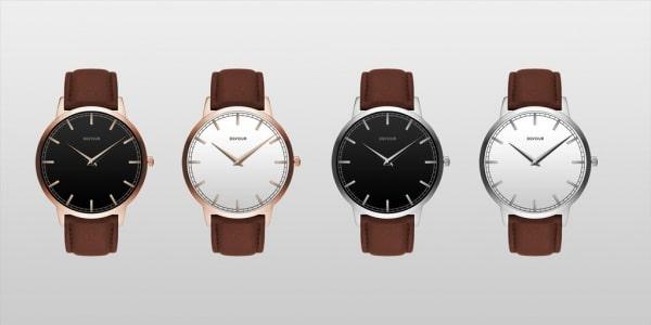 Elegant Leather Strap Watch