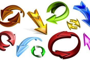 Free Dynamic 3D Arrow Designs Mockup in PSD