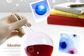 Free Chemistry Education Theme Mockup in PSD