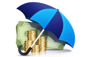 Free Money Plus Umbrella Concept Mockup in PSD