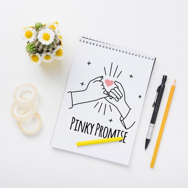 Floral Wedding Notepad