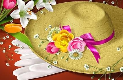 Lovely Flower Hat
