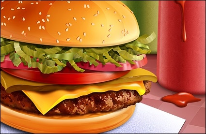 Tasty Hamburger Illustration