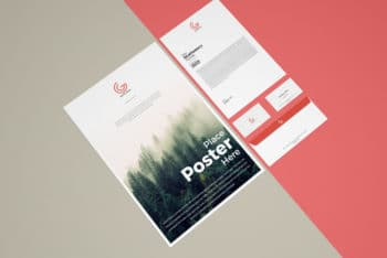 Free Corporate Stationery Mockup to Design Corporate Stationery