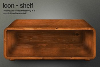Free Weathered Wooden Shelf Mockup in PSD