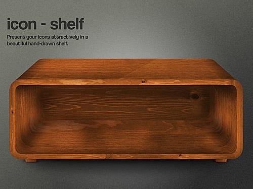 Weathered Wooden Shelf