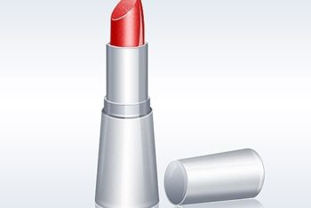 Free Shiny Lipstick Illustration Mockup in PSD