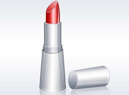 Shiny Lipstick Illustration