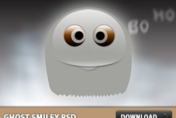 Free Ghost Smiley Design Mockup in PSD