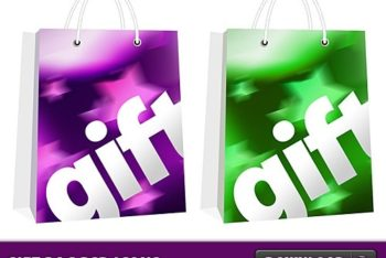 Free Colorful Gift Bag Designs Mockup in PSD