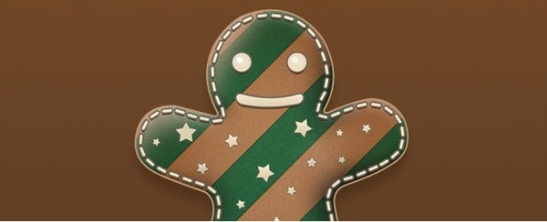 Cute Gingerbread Man Illustration