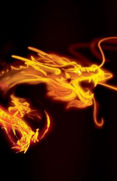 Golden Oriental Dragon