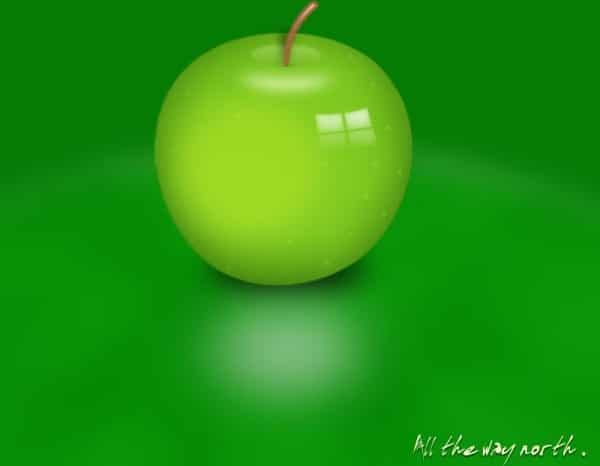 Layered Green Apple