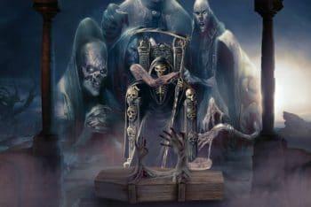 Free Grim Reaper Template Mockup in PSD