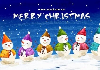 Christmas Snowman Paintings
