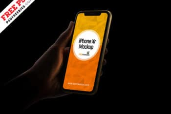 Photorealistic iPhone XR PSD Mockup for Showcasing App & Mobile Website Designs