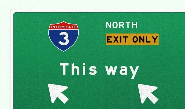 Interstate Traffic Sign