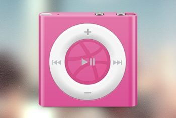 Free Cute iPod Shuffle Model Mockup in PSD