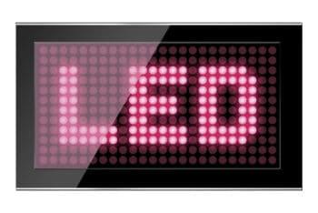 Free Black LED Screen Plus Pink Text Mockup