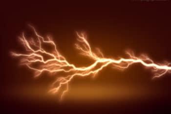 Free Fierce Lightning Effect Mockup in PSD