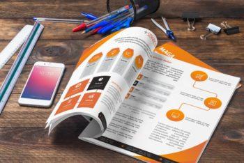 Free Magazine Showcase Plus Smartphone Mockup
