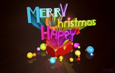Colorful Christmas 3D Pop Art