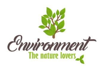 Free Nature Logo Scene Design Mockup in PSD